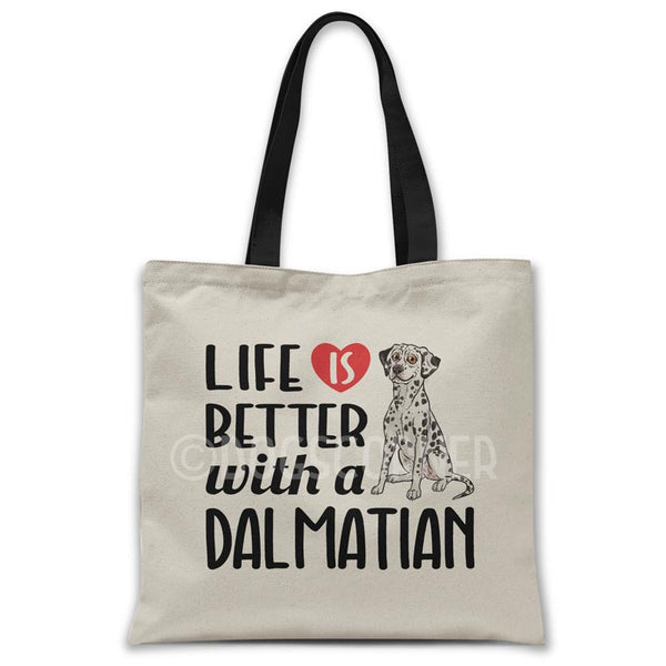 Life-is-better-with-dalmatian-tote-bag