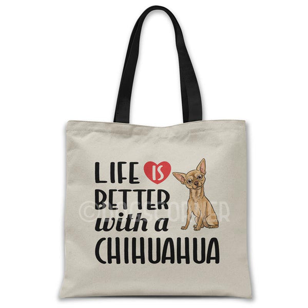Life-is-better-with-chihuahua-tote-bag