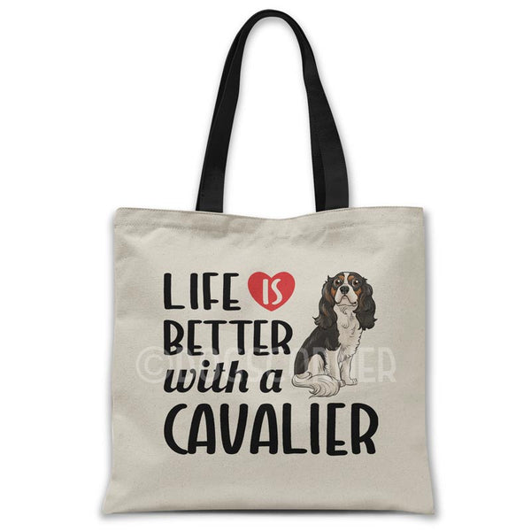 Life-is-better-with-cavalier-tote-bag