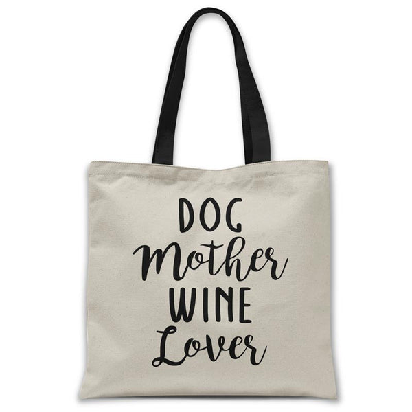 Dog-mother-wine-love-tote-bag