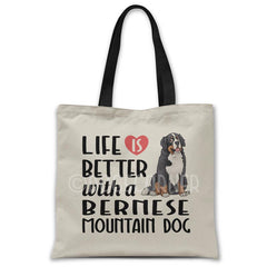 Life-is-better-with-bernese-tote-bag