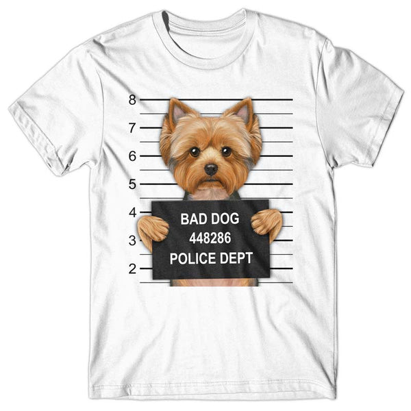 Yorkshire Terrier Mugshot - T-shirt
