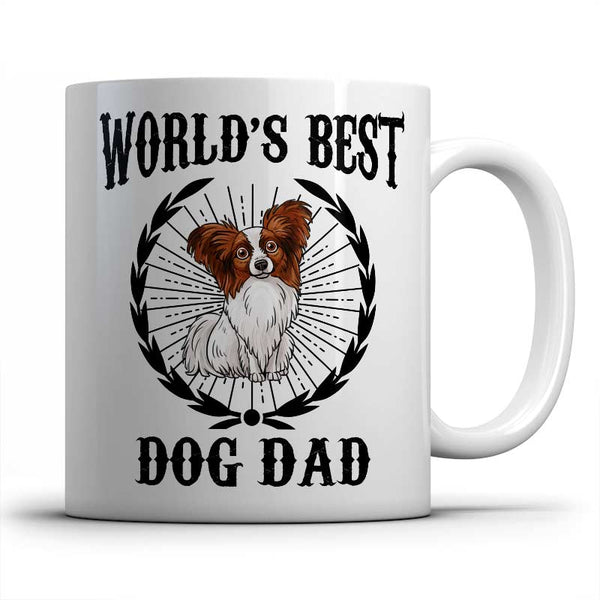 best-papillion-dog-dad-mug