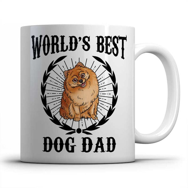 best-pomeranian-dog-dad-mug