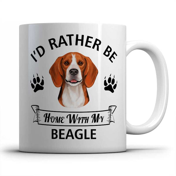 I'd rather be home with my Beagle Mug