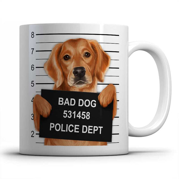 Mugshot (Golden Retriever) Mug
