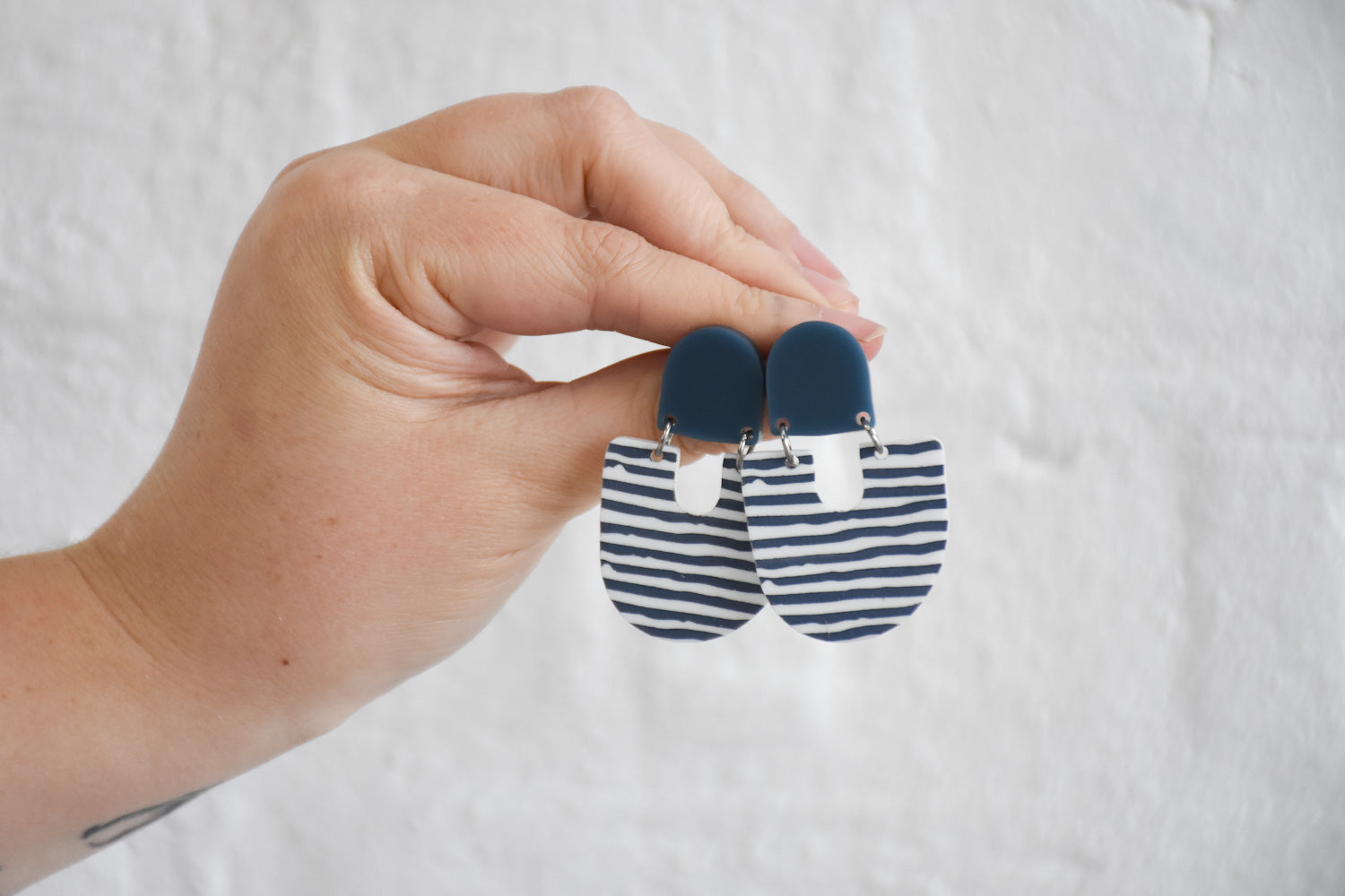 CLIP ON | 'Moops' Blue / Stripe