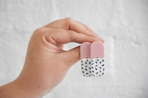 CLIP ON | 'Indi' Pink / Spot