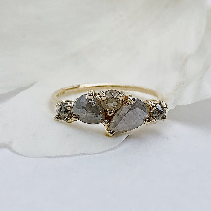 Grey Diamond Cluster Ring