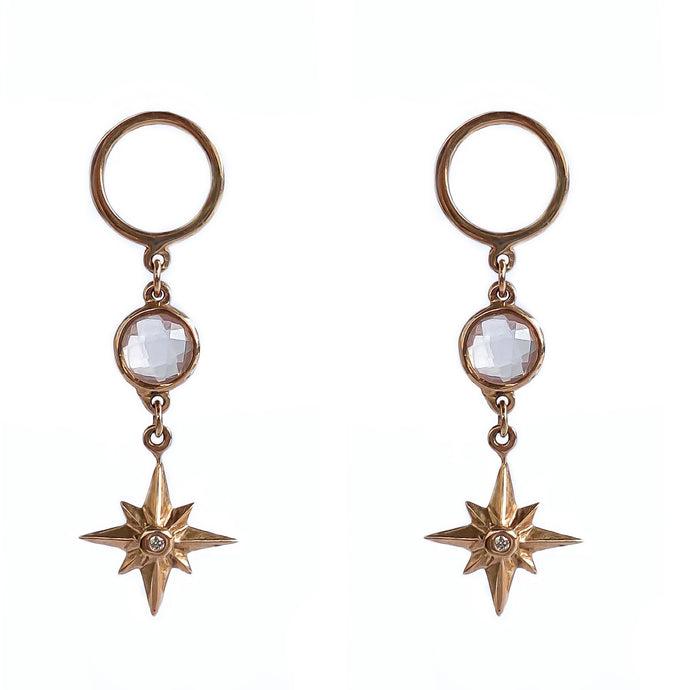 Rose Gold Star Earrings