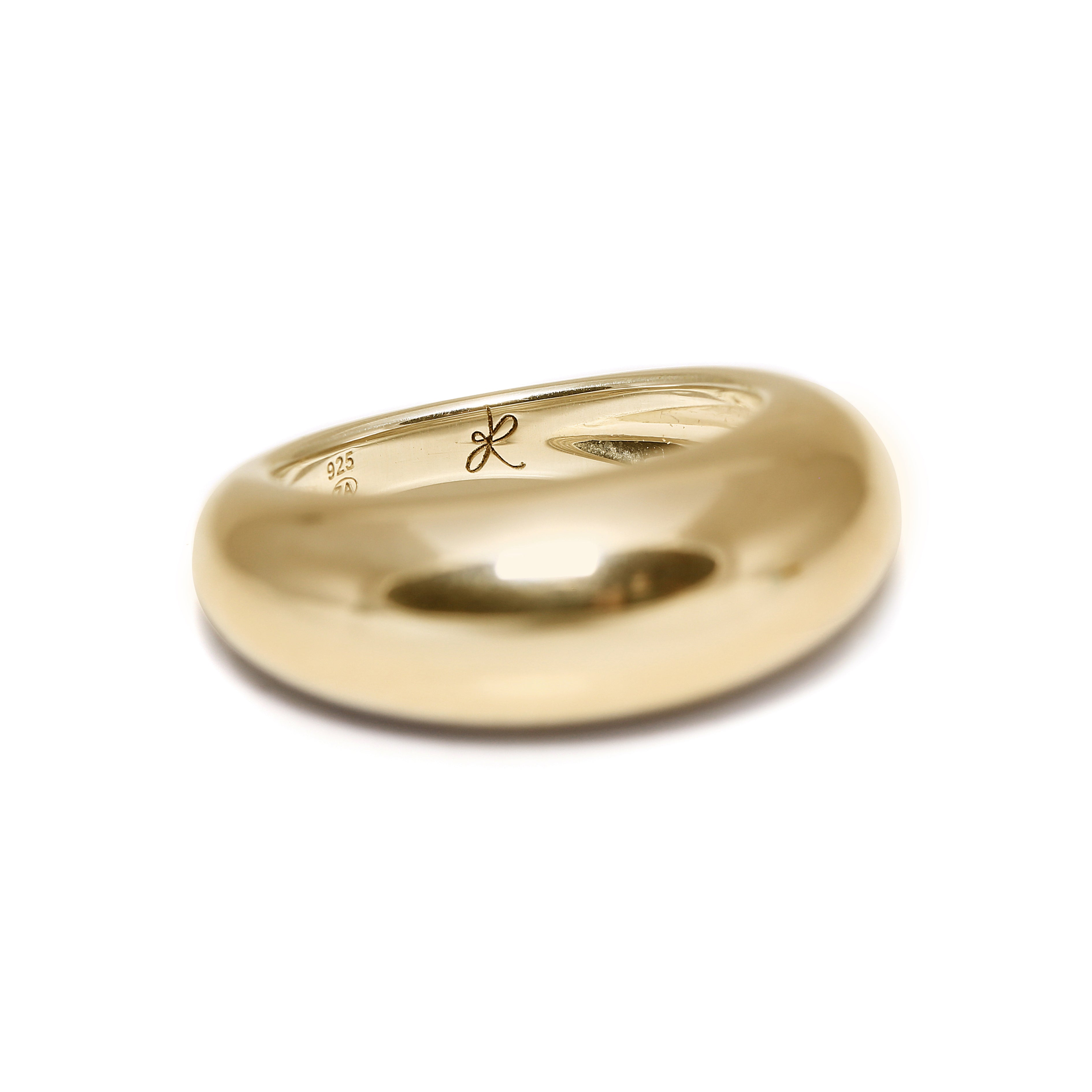 Domed Ring (Yellow Gold)