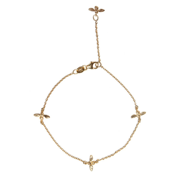 Bee Bracelet 9ct Yellow Gold