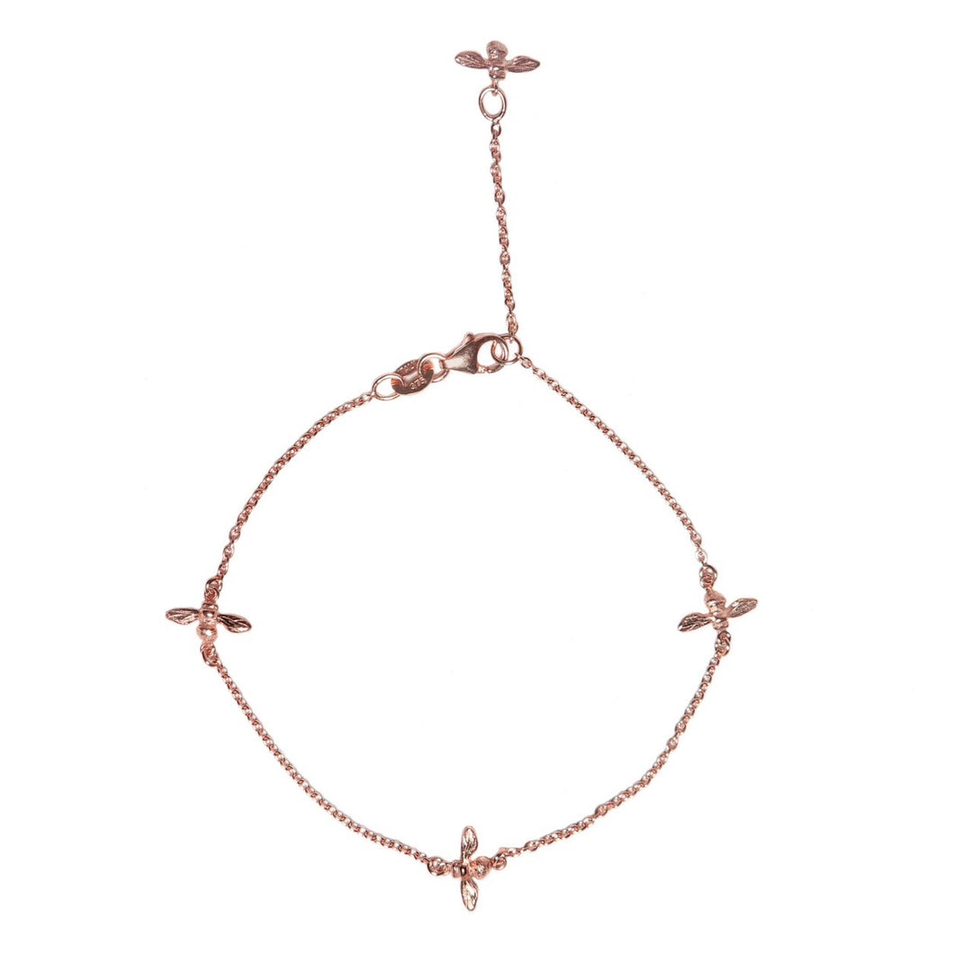 Bee Bracelet 9ct Rose Gold