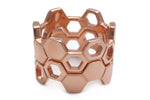 Load image into Gallery viewer, Honeycomb Rose Gold Ring
