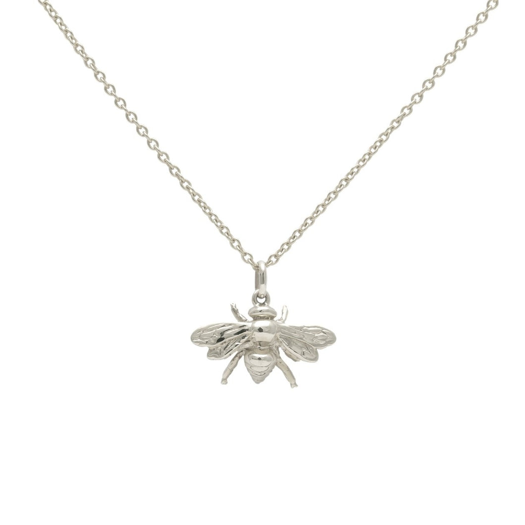 Bee Necklace Silver