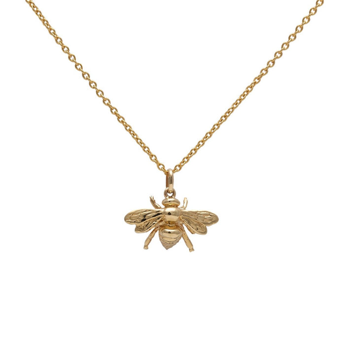 Bee Necklace Yellow Gold