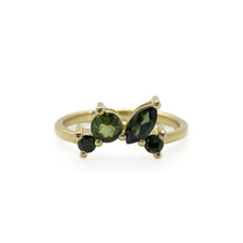 Golden Green Stacking Rings