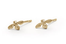 Petite Bee Studs Yellow Gold