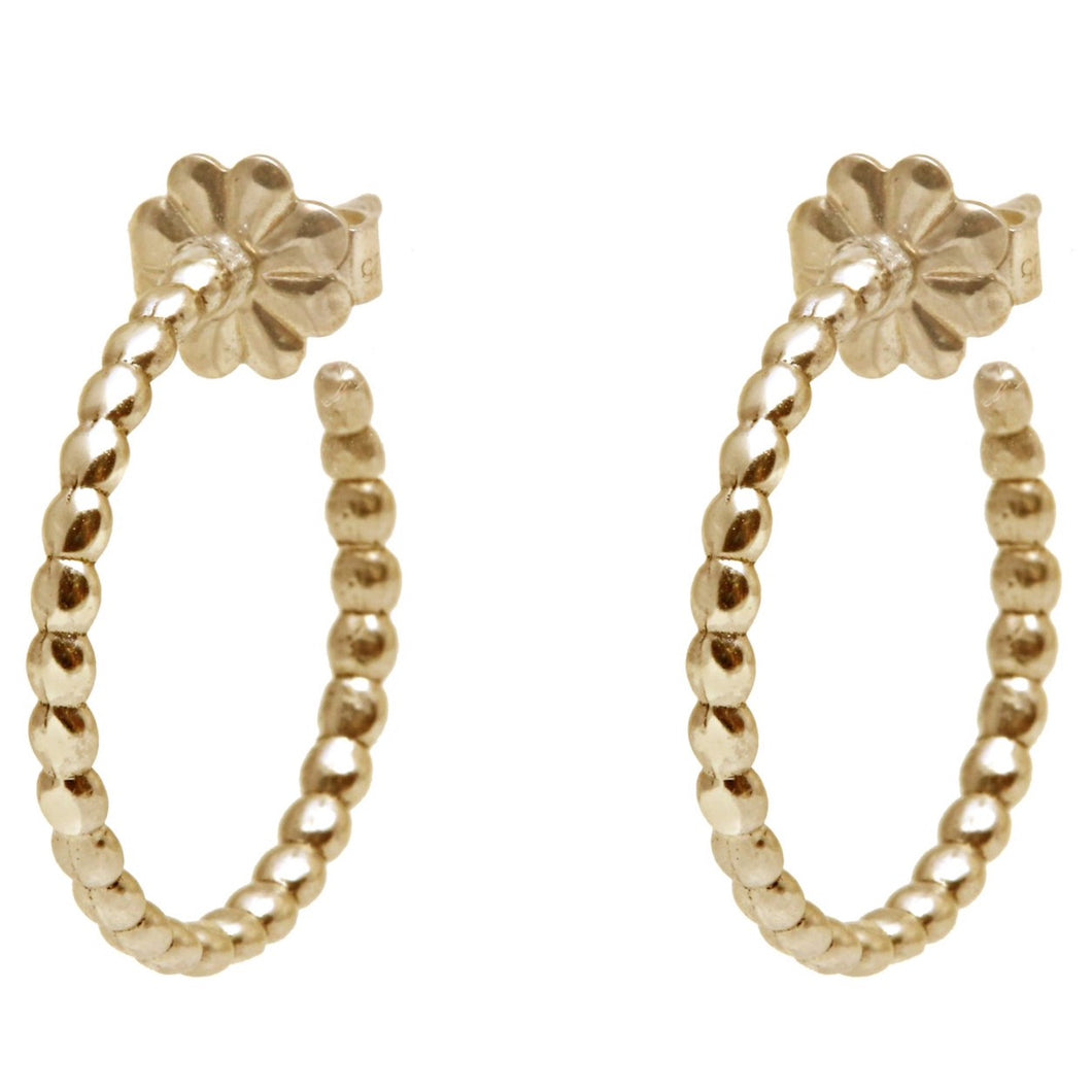 Rock Earrings Yellow Gold