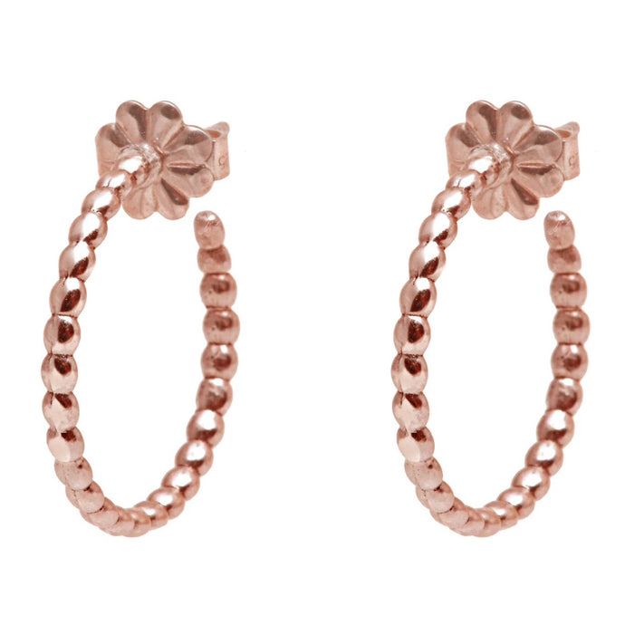 Rock Earrings Rose Gold