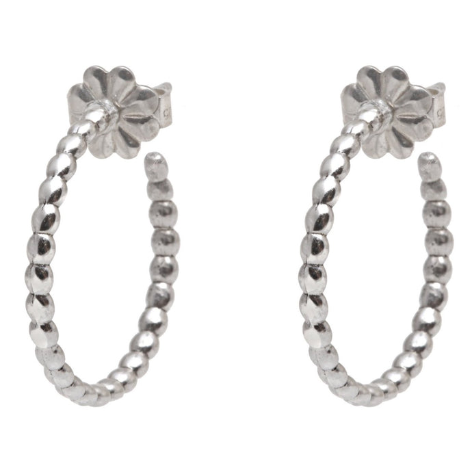 Rock Earrings Silver