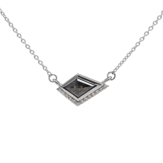 Salt & Pepper Diamond Kite Necklace