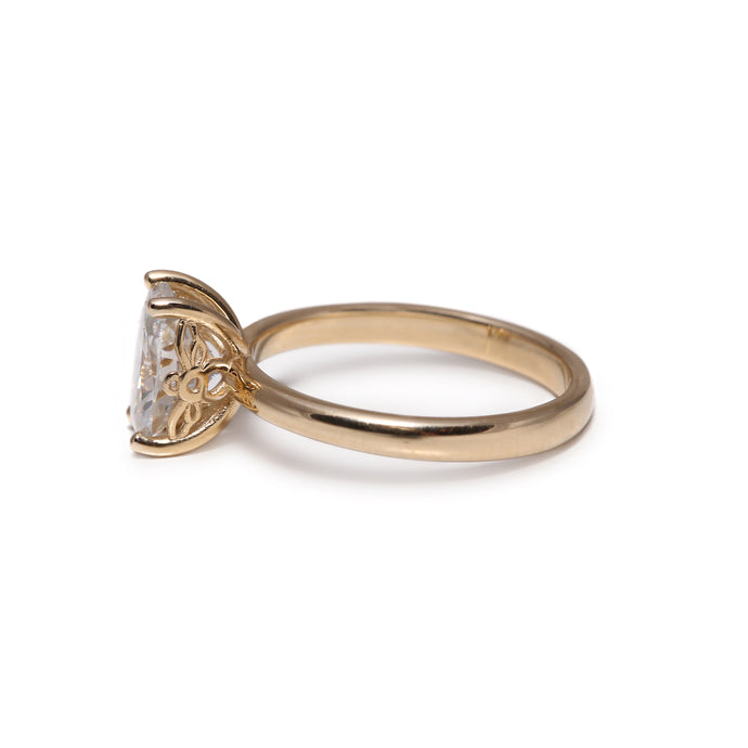 Bee Engagement Ring Oval