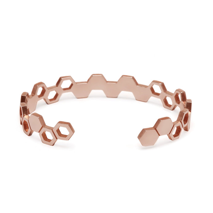 Rose Gold Honeycomb Cuff