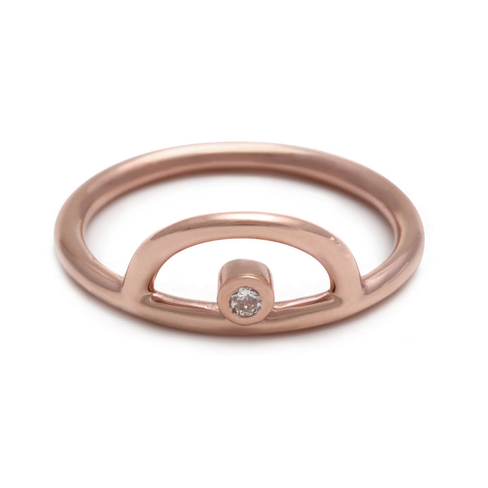 Rainbow Rose Gold Ring