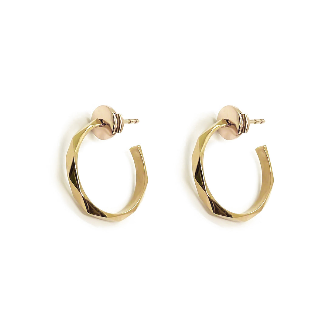 Facet Earrings Yellow Gold