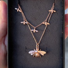 Bee Necklace Rose Gold