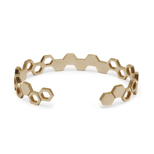 Yellow Gold Honeycomb Cuff