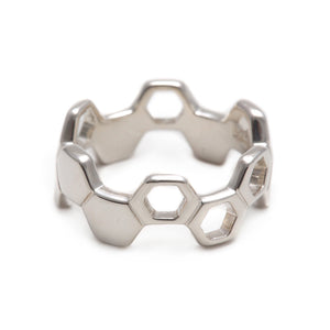 Honeycomb Silver Ring