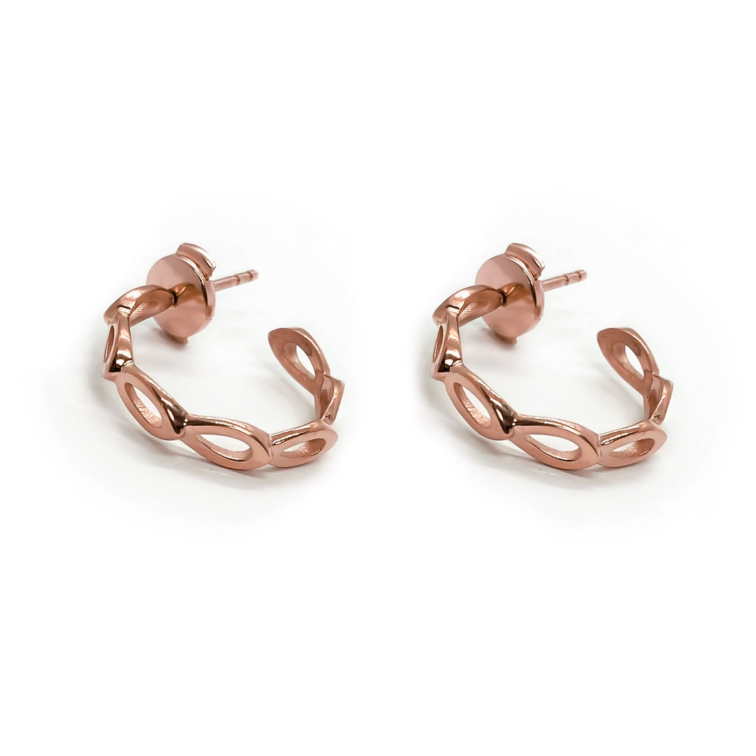 Petal Earrings Rose Gold