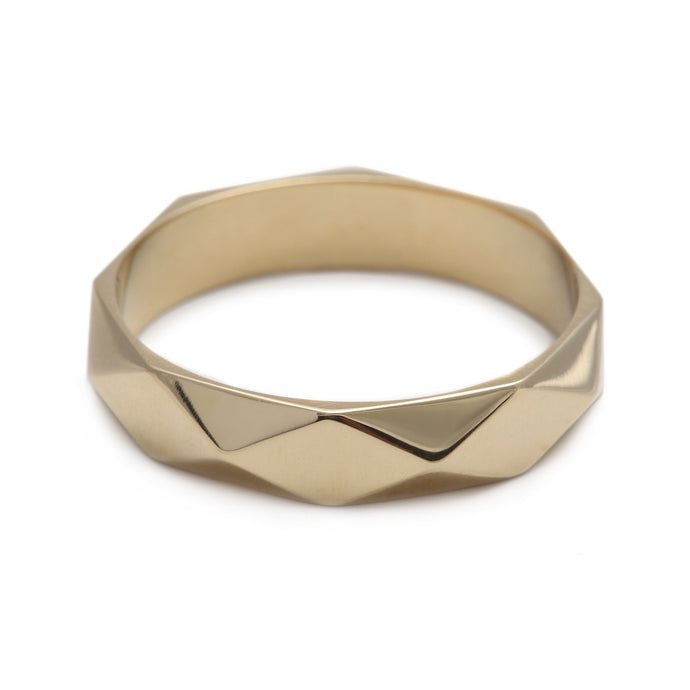Faceted Ring Yellow Gold