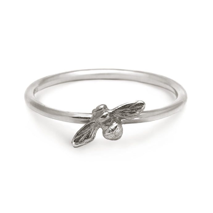 Bee Stacking Ring (silver)