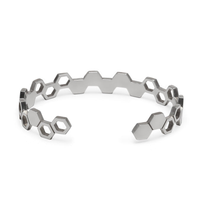 Silver Honeycomb Cuff