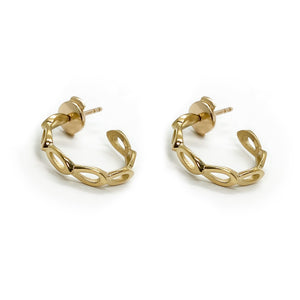 Petal Earrings Yellow Gold