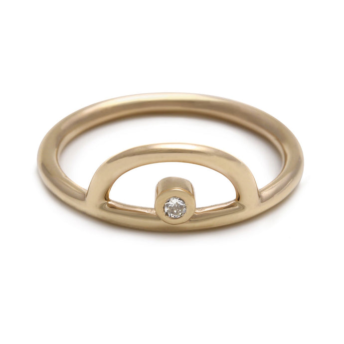 Rainbow Yellow Gold Ring