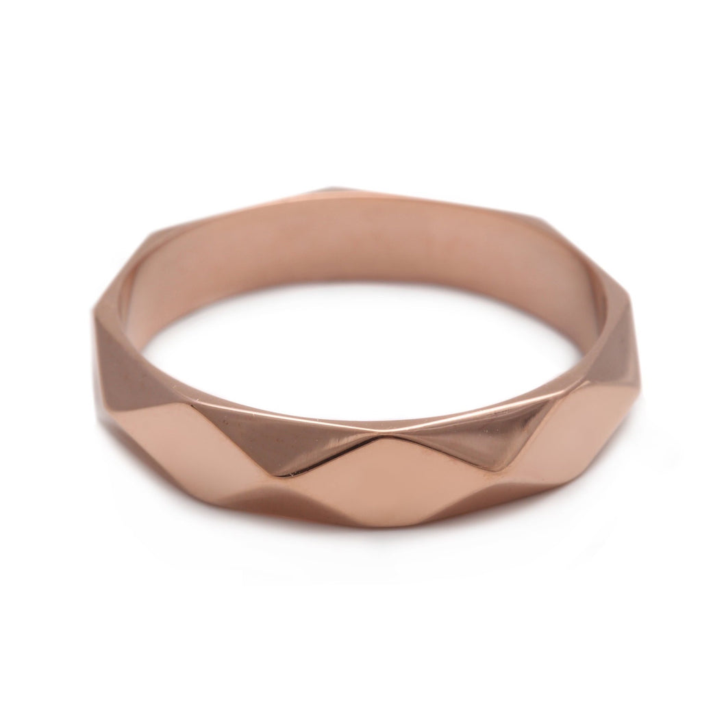 Faceted Ring Rose Gold