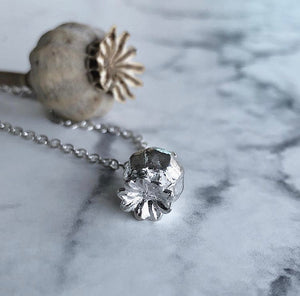 Poppy Seed Pod Necklace