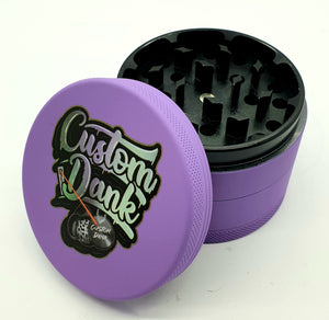 Custom Colour Print Silicone Valley 63mm 4 Part Herb Grinder Purple -With Your Logo