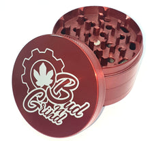 Load image into Gallery viewer, Custom Engraved 63mm 4 Part Red Herb Grinder -With Your Logo/image/text