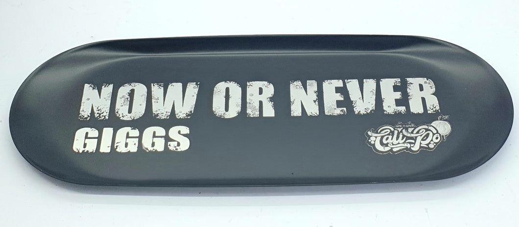 Custom Engraved Medium Steel Rolling Tray Black-  With Your Logo/Image/Text