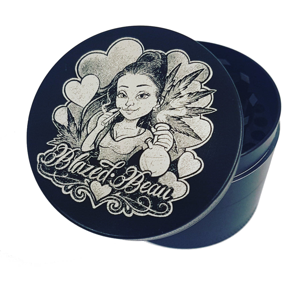Custom 50mm 4 Part Herb Grinder -With Your Logo/image/text