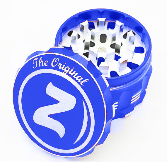 Custom Engraved 63mm Beast Blue 4 Part Herb Grinder -With Your Logo/image