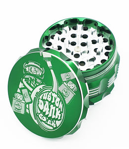 Custom Engraved 63mm Beast Green 4 Part Herb Grinder -With Your Logo/image