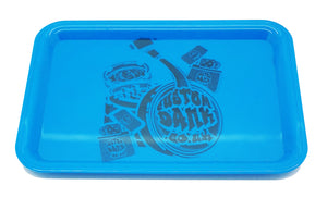 Custom Plastic Rolling Tray Blue-  With Your Logo/Image