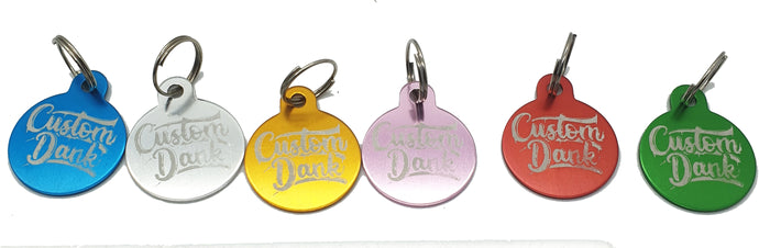 Custom Coloured Key ring - With Your Logo/image/text