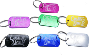 Custom Coloured Dog tag Key ring - With Your Logo/image/text